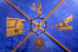 """Castello di Monterone - Affresco del soffitto """"Sala blu"""""""