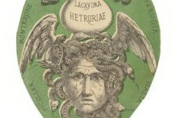 Lacryma etruriae: etichetta del vino prodotto sui terreni del Castello di Monterone