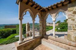 Castello di Monterone - vista sul roseto