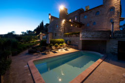 Monterone Castle - View from the pool